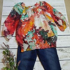 Calvin Klein sheer blouse